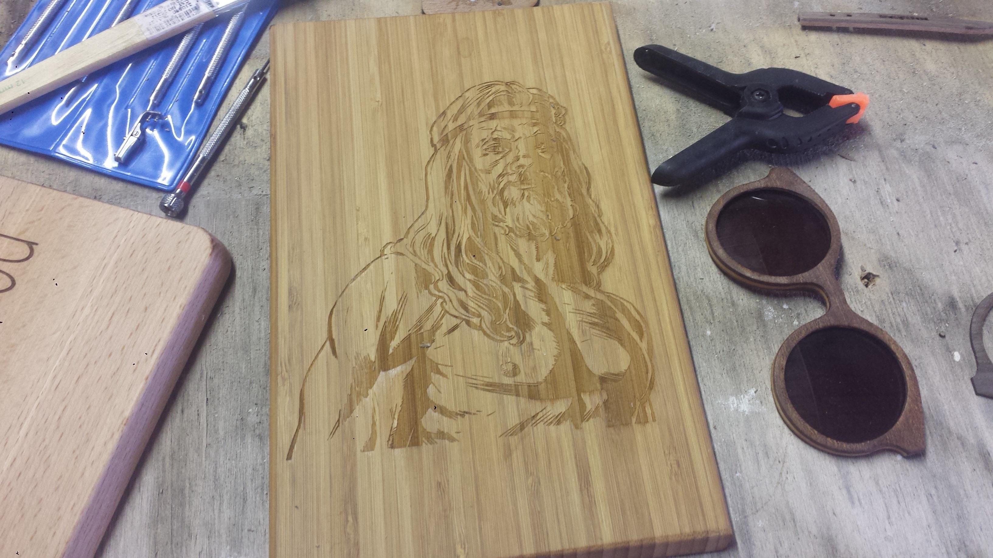 Laser Engraved Bamboo